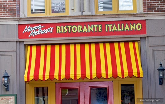 The front entrance to Mama Melrose's Ristorante Italiano