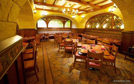Le Cellier north side dining area.