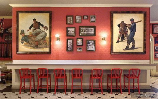 These seven dining spots don't offer much of a view, unless you really like looking at red wallpaper very closely — but, it is a seat and a table.