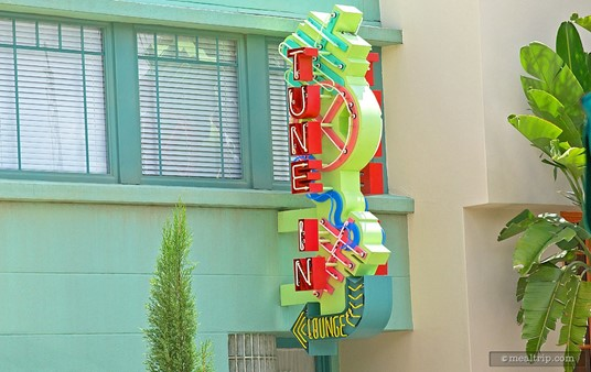 "The ""Tune-In Lounge"" sign at Hollywood Studios might just be the single 