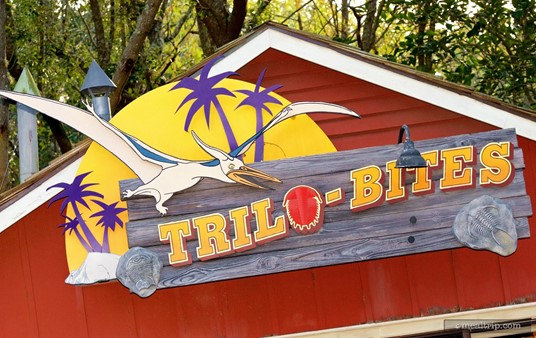 Sign above the Trilo-Bites stand.