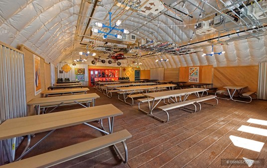 The indoor seating area at Expedition Cafe is quite large and air-conditioned.