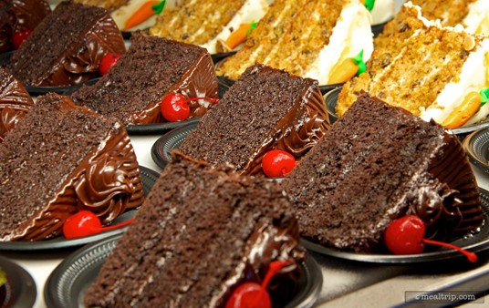 This chocolate cake shows up at many locations at Sea World. Fortunately, it truly is a great piece of chocolate cake!