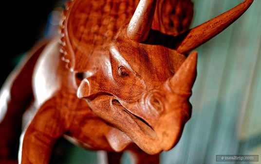 Another one of the dinosaur details that are placed throughout the restaurant.