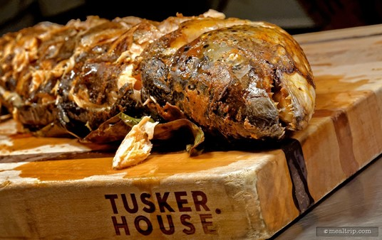 Now available at Tusker House... Piranha!!! No, no... that's a Verlasso Salmon... they do have teeth like that. It's nice to see a whole roasted fish!
