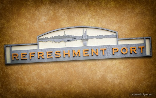 The Refreshment Port Sign at Epcot.