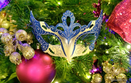 If you happen to visit Sassagoula over the holidays, be sure to check out the holiday trees that are in the lobby area leading to the restaurant. They all feature colorful and detailed New Orleans-inspired mask ornaments.