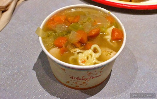 "The Chicken Noodle Soup is a ""side"" at Cosmic Ray's."