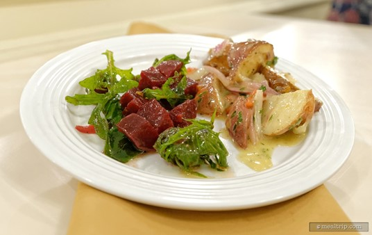 The Roasted Beet Salad and Roasted Potato Salad really complimented each other well.