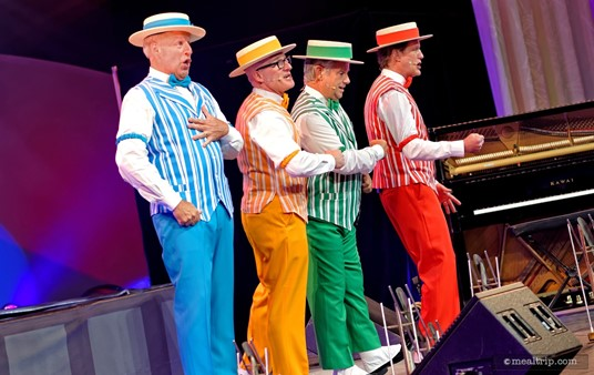 """The Dapper Dans performed two sets at the """"Dining Through the Decades - A Tribute to Walt Disney"""" special event, held during the Epcot International Food and Wine Festival."""