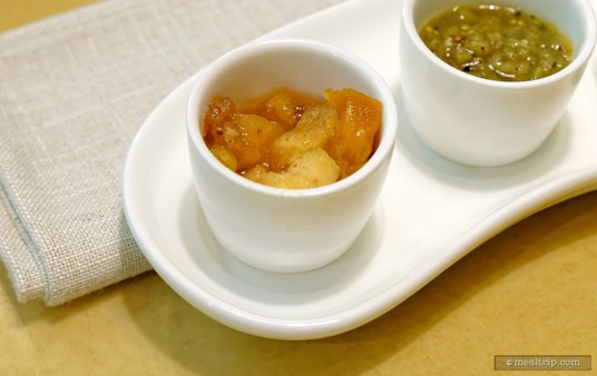 The well-spiced Apple Chutney is a nice compliment to the Ham Steaks that are on the breakfast menu at Garden Grill.