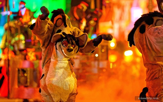 Who says Mickey's Boo To You Parade isn't scary? I wouldn't want to tangle with one of these Hyenas.
