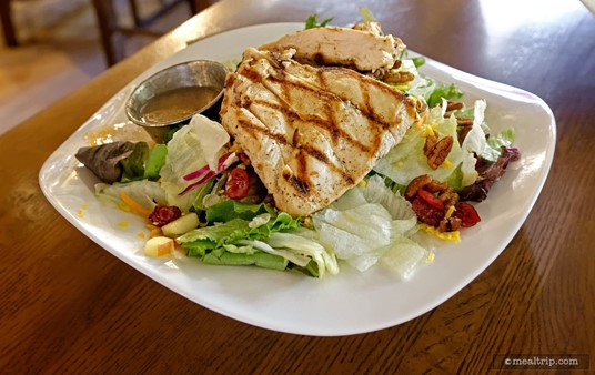 The Colony Salad at the Liberty Tree is only available during lunch, and features dried cranberries, pecans, and apples.
