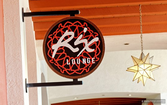 The Rix Lounge sign above the main entrance.
