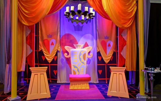 The Queen of Hearts' photo meet and greet area.