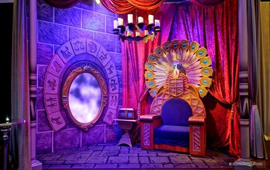 The Evil Queen's photo meet and greet area.