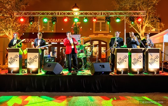 """Event and wedding band """"The Buzzcatz"""" were on hand at the 2015 Holiday Harbor Nights event."""