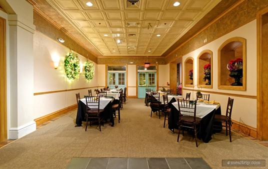"""The first """"compartment"""" of the restaurant doesn't feel finished, or as warm as the interior."""