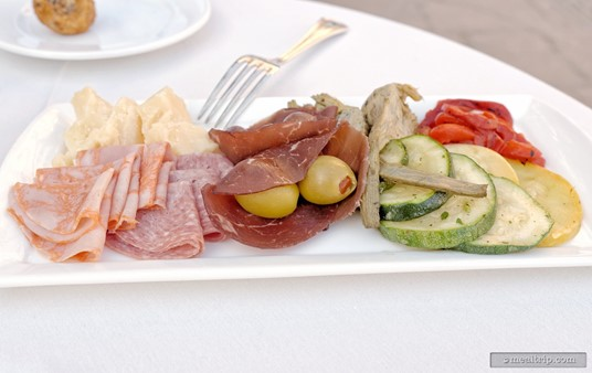 At the 2015 Harbor Nights Primavera event, each VIP table received a great antipasto plate (for sharing between two guests).