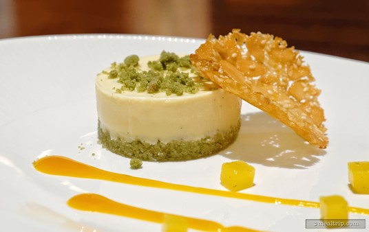 "All of the flavors in the Lime Cheesecake are subtle and complimentary. The ""lime"" is not an overpowering presences in this dessert."