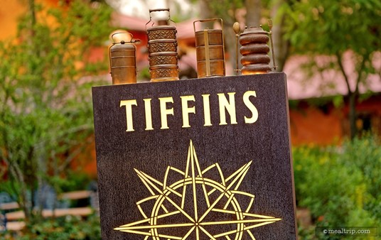 The exterior sign at Tiffins in Animal Kingdom.
