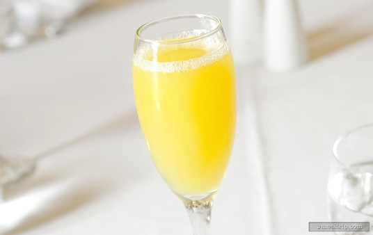 The Mimosas at the Parisian Afternoon lunch are mixed table-side. A waiter or waitress will pour the sparkling wine and orange juice right into your glass!