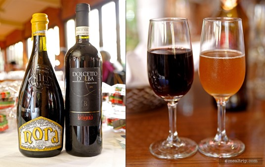 The Second Course Beverages for 2015's Italian Food, Wine vs Beer Pairing... Wine: Barbaresco - Batasiolo & Beer: Nora - Birra Baladin.