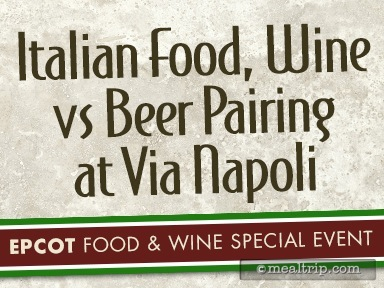 Italian Food, Wine vs Beer Pairing at Via Napoli Reviews and Photos