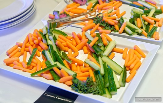 Next up, various stick vegetables for dipping and a couple of dressings.