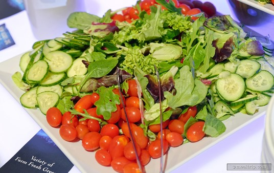 A variety of farm fresh greens are available for making your own garden salad.