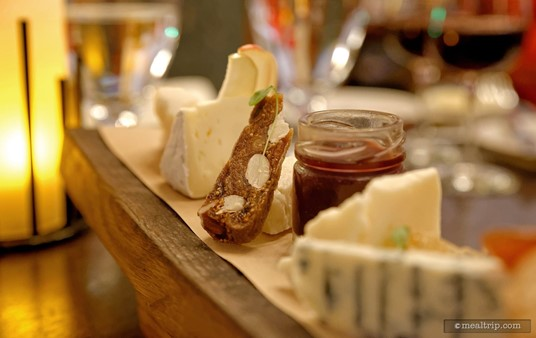 It's fun pairing the various components of the cheese board together.