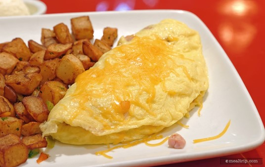 The Ham and Cheddar Omelette at Whispering Canyon Cafe.