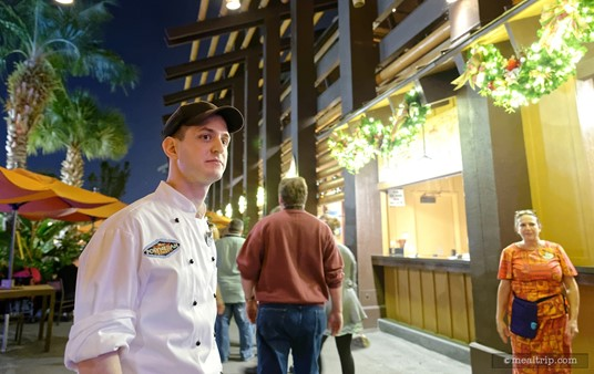 Chef Christopher bid farewell to each and every guest as the Highway in the Sky group left for the monorail platform.