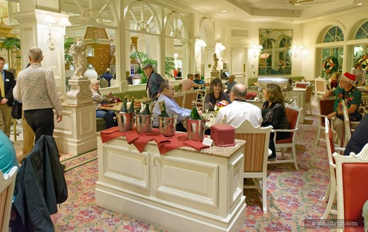 After the Citricos portion of the Highway in the Sky event, guests were escorted to the nearby Garden View Lounge (also in the Grand Floridian).
