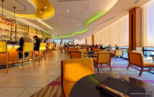 You can wait in the California Grill Lounge before the Celebration at the Top event begins.