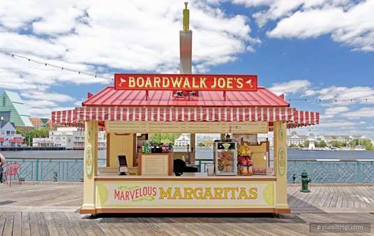 Here's a head-on view of the Boardwalk Joe's Marvelous Margarita stand.
