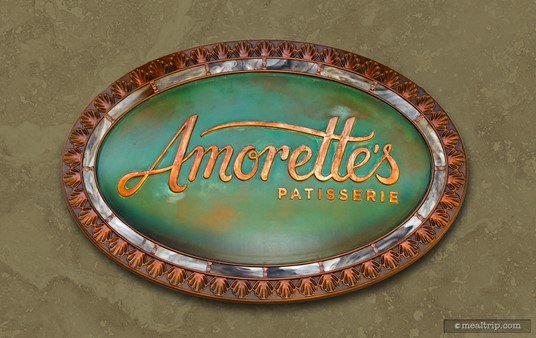 The Amorette's Patisserie sign.