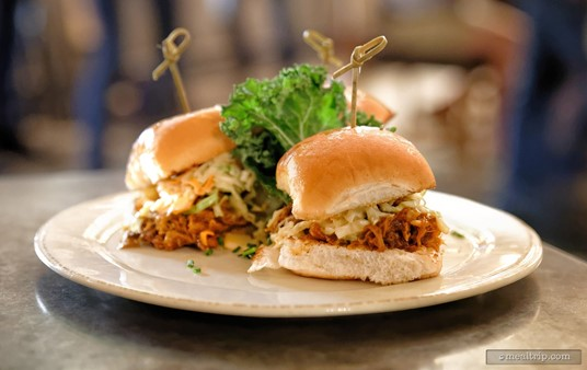 BBQ Pork Sliders from the Saturday Night Shine menu.