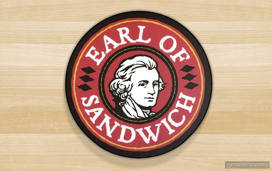 The Earl of Sandwich logo at Disney Springs.