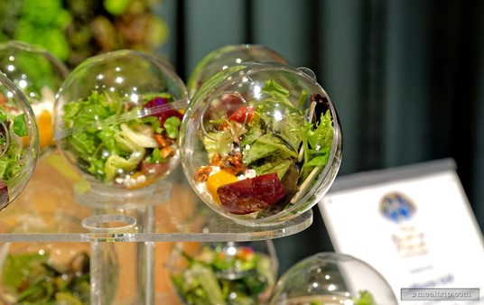 The salad spheres let you see exactly what was in each salad!