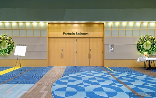 There are (at least) three doorways like this one that lead into the Fantasia Ballroom. It's a pretty big event space.