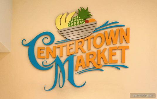 The Centertown Market logo sign is just above the order and payment registers at the entrance to the location.