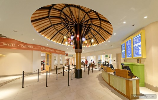 The giant sun umbrealla feature in the order placement and payment area is a nice tropical touch.