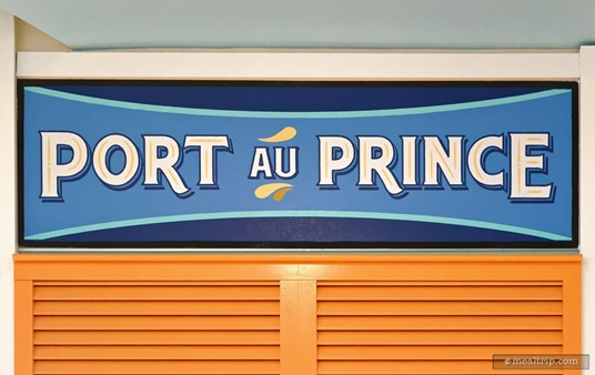 The Port au Prince sign at Centertown Market.
