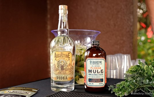St. Sugustine Distillery's Florida Cane Vodka and their All Natural Florida Mule Mixer at the Swan and Dolphin Food and Wine Classic (2018).