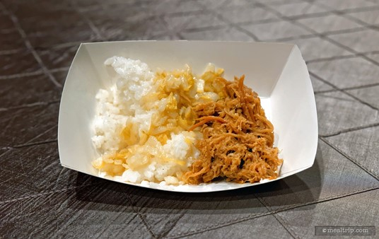 Pulled meat with rice from the Swan and Dolphin Food and Wine Classic (2018).