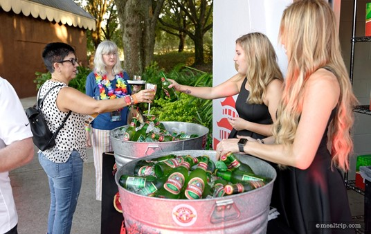Tsingtao Beer samples were available in the Chinatown area. (2018)