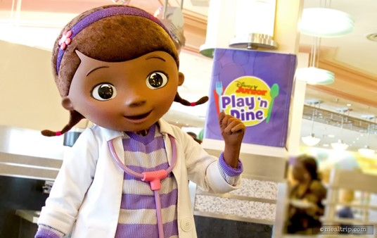 Doc McStuffins might just give you an early morning check-up with her stethoscope. (Characters subject to change without notice.)