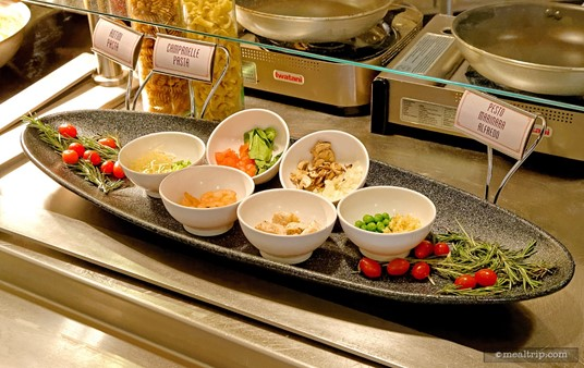 A Create-Your-Own Pasta Bar is available during lunch time at Hollywood 
