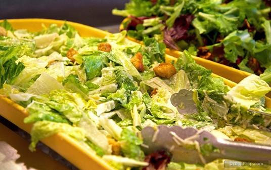 Caesar salad at Hollywood and Vine.